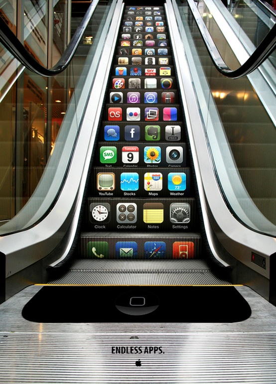 iPhone Escalator of apps 6.5. 2015